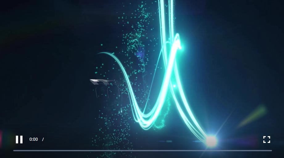 陨落标志 Premiere Pro 模板  一排粒子射在屏幕上,打破了一个标志。